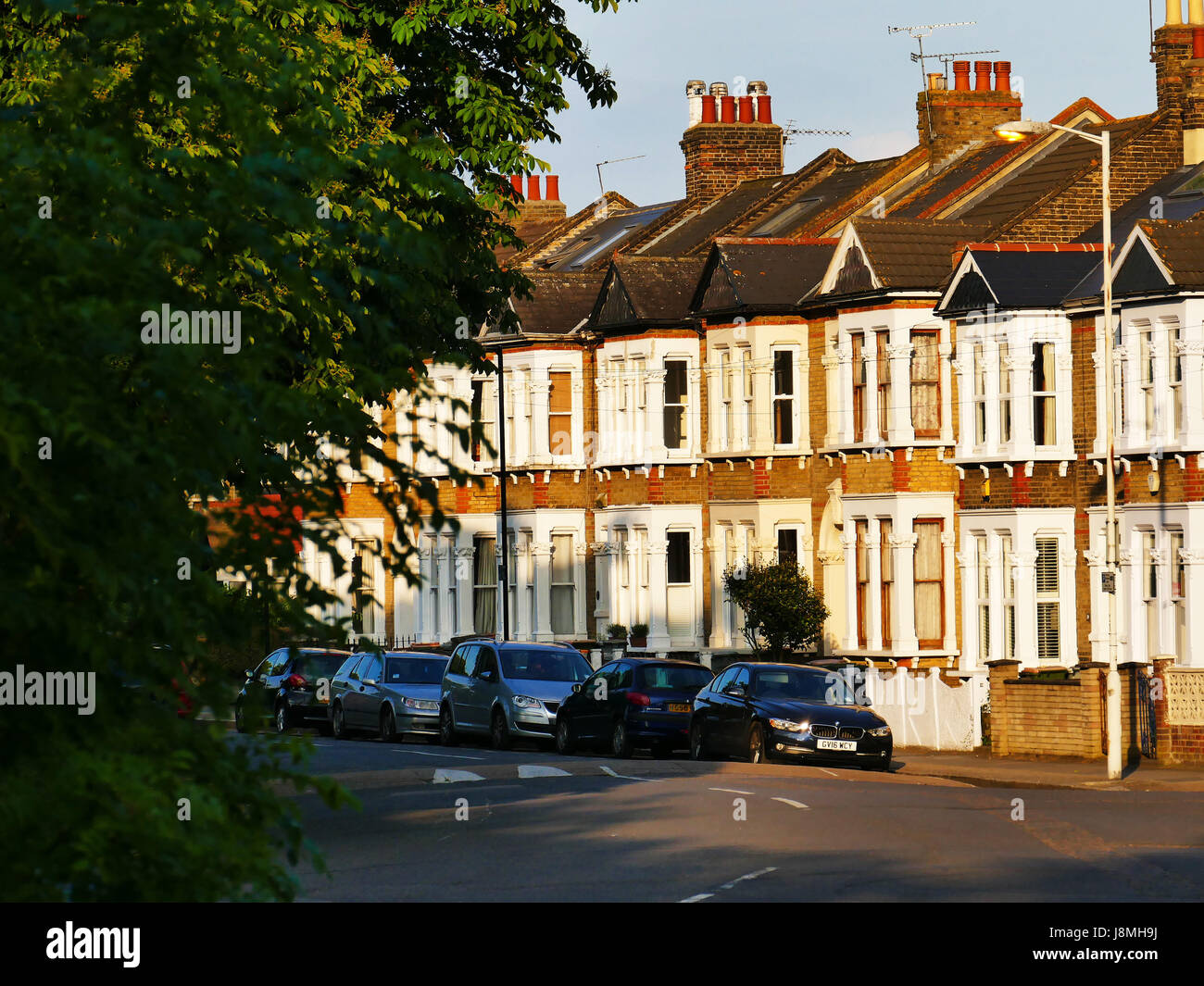 Houses in Capel Road, Forest Gate, London E7 Stock Photo