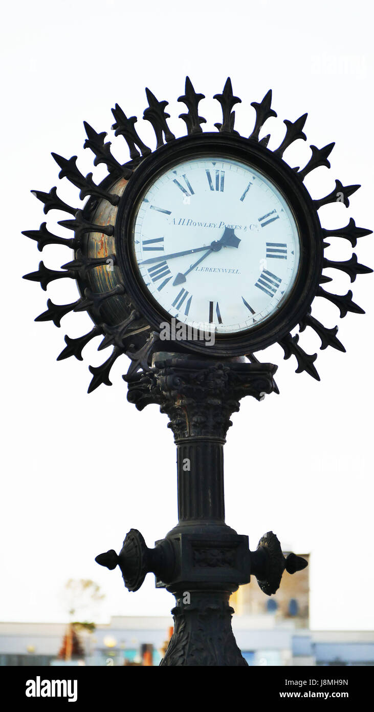 The Woodgrange Clock, Forest Gate at the junction of Woodgrange `Road and Forest Lane near Forest Gate station. - Stock Image
