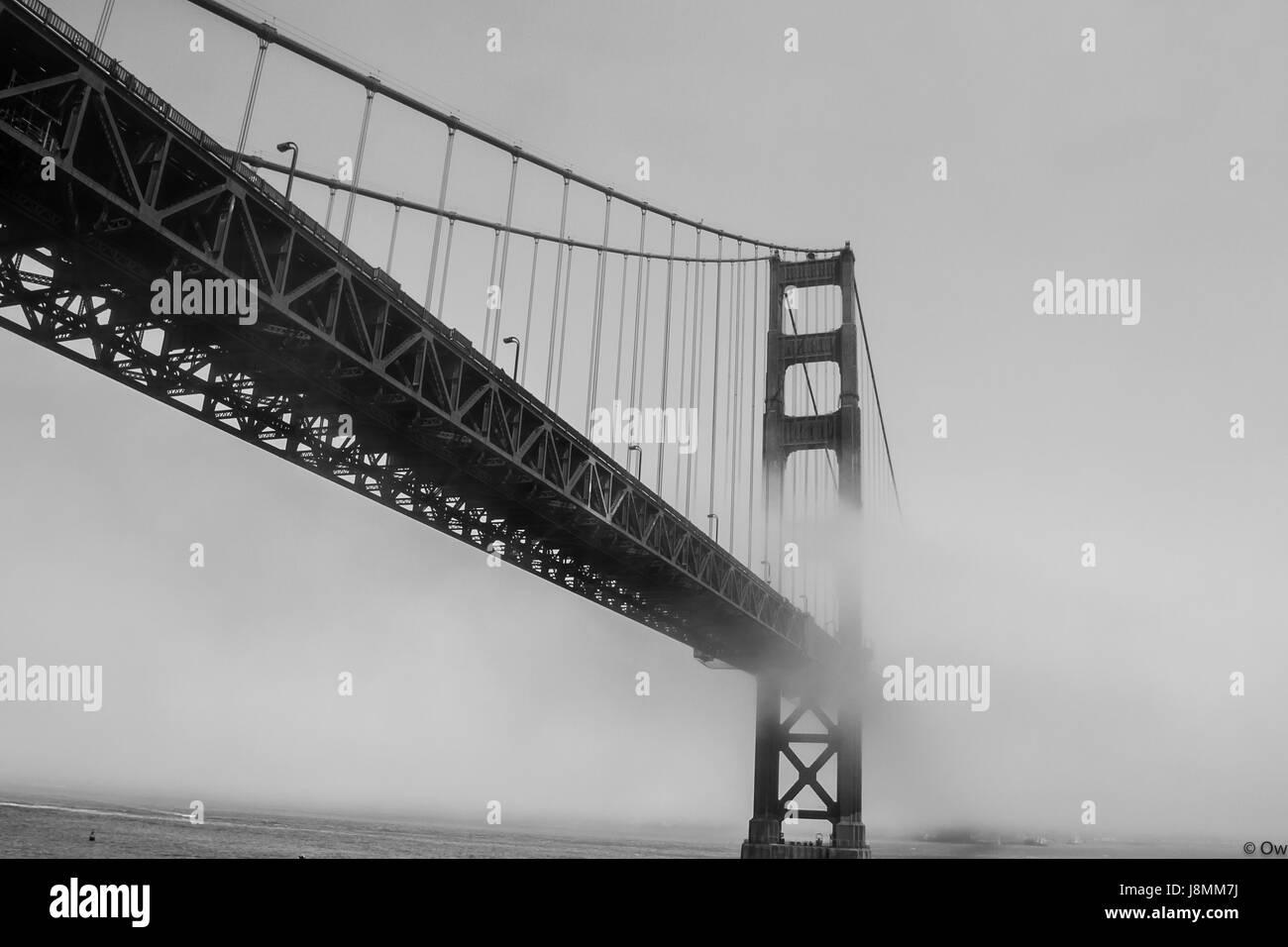 Golden Gate Bridge - San Francisco, California - Stock Image