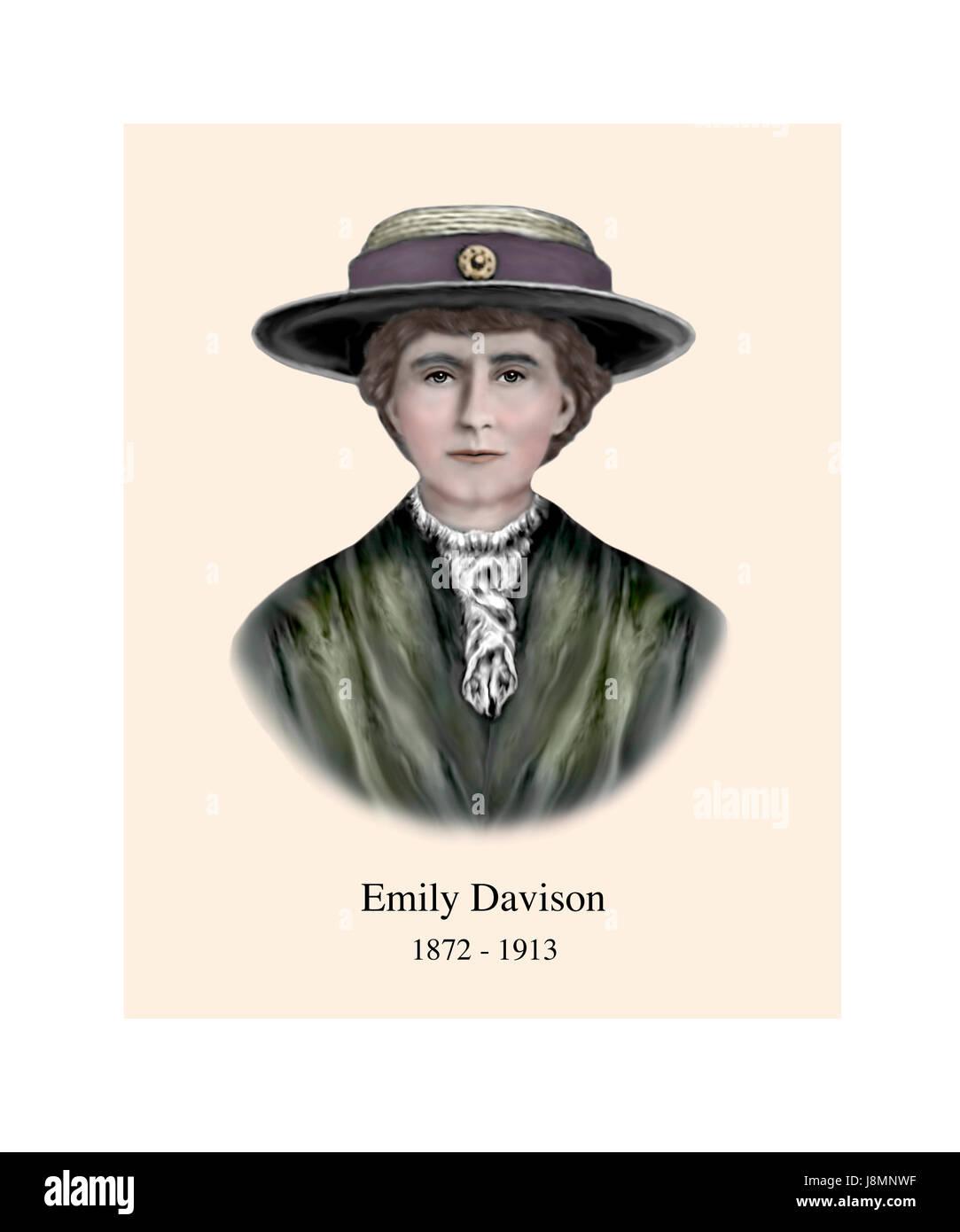 Emily Davison, 1872 - 1913, English Suffragette - Stock Image