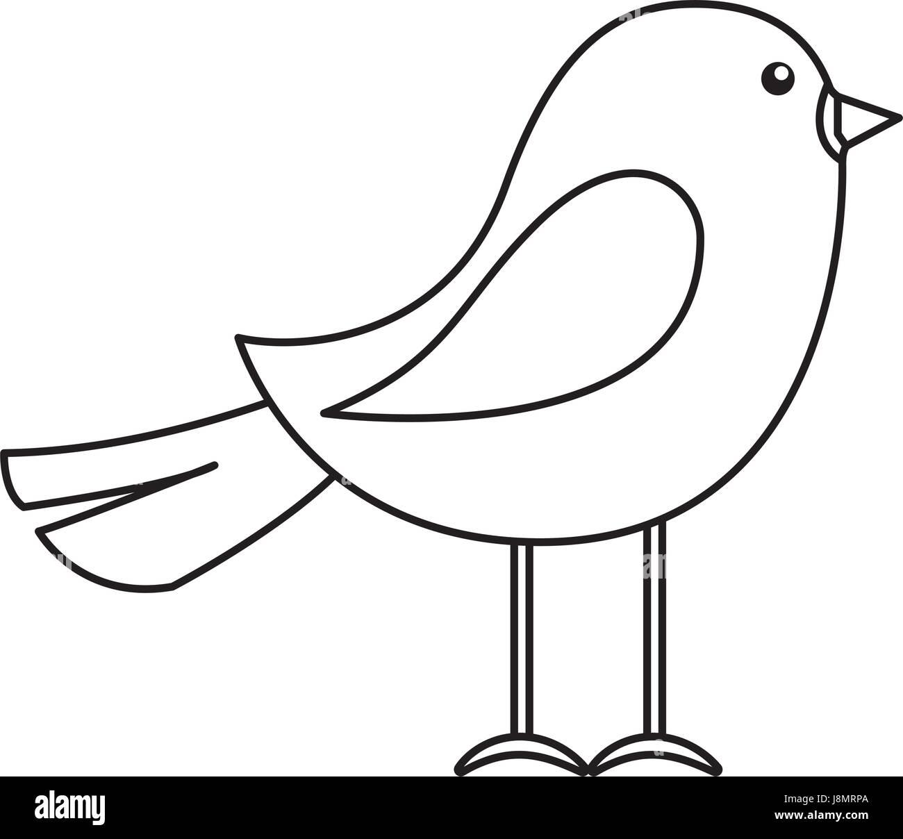 Flying bird cartoon black and white - photo#48