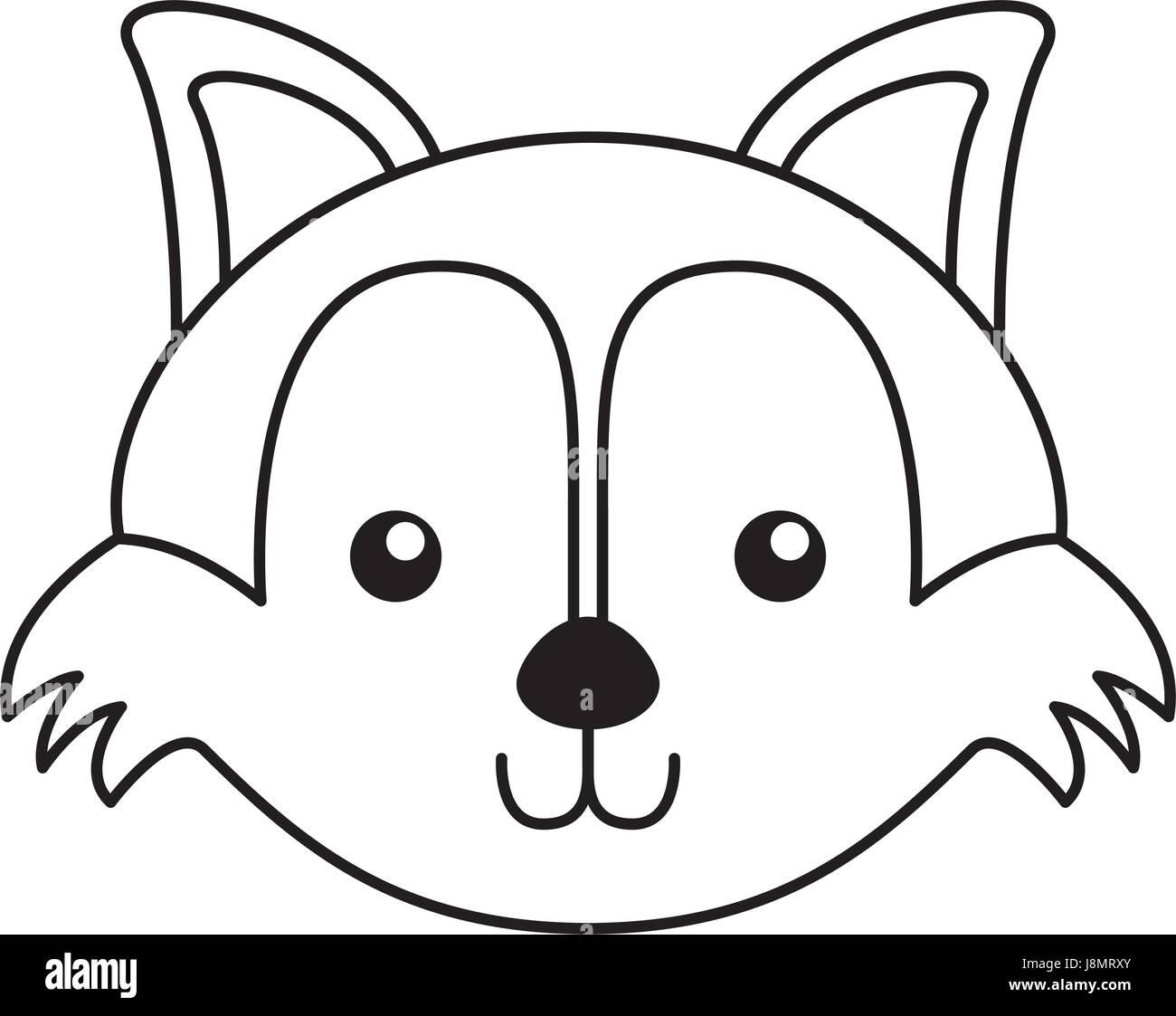 Cute cartoon fox face - photo#34