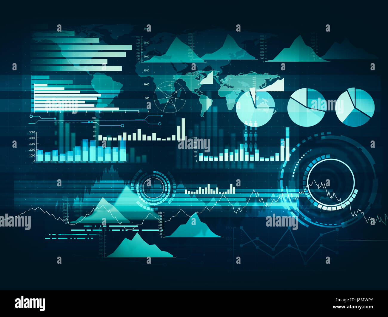 abstract business chart with uptrend line graph  bar chart and stock photo  143059475
