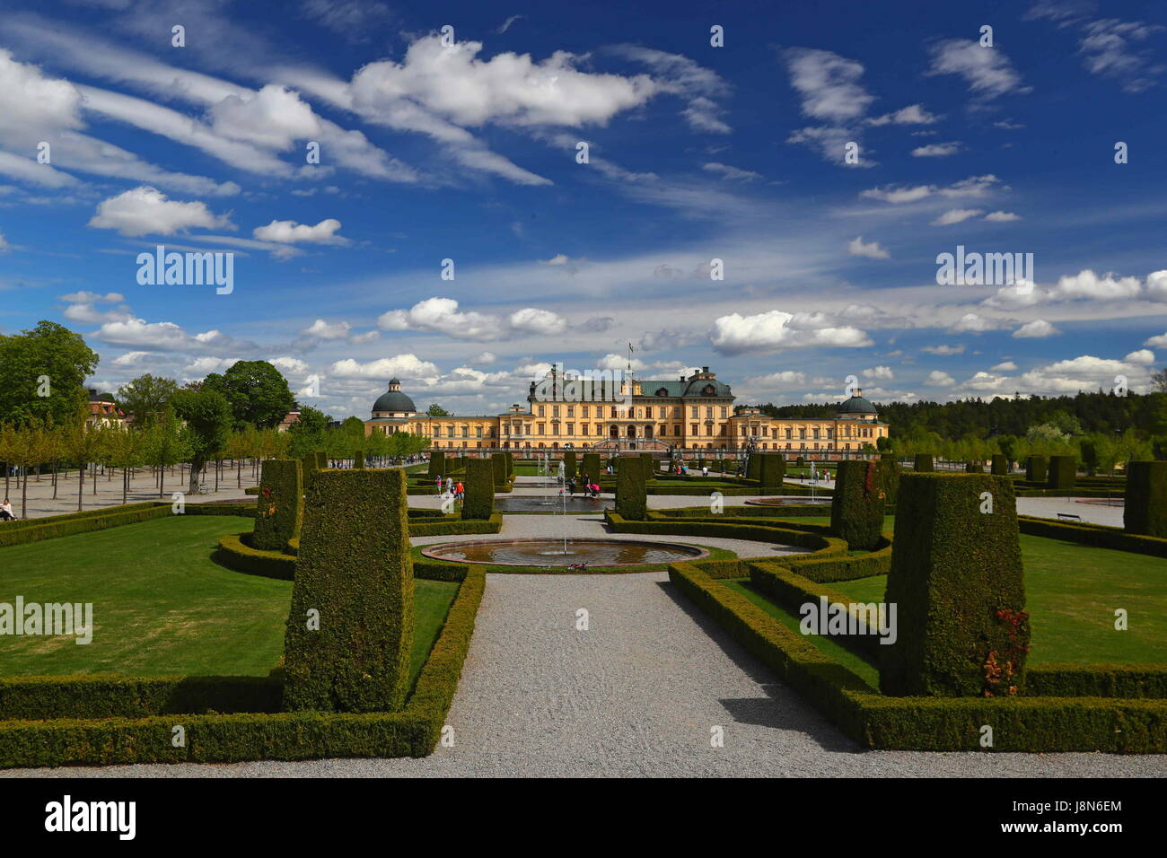 Brussels. 25th May, 2017. Photo taken on May 25, 2017 shows the view of the Royal Domain of Drottningholm located - Stock Image