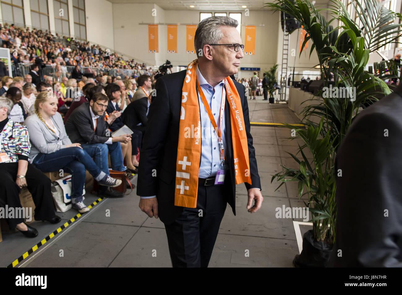 May 25, 2017 - Berlin, Berlin, Germany - THOMAS DE MAIZIERE, German Federal Minister of the Interior and politician - Stock Image
