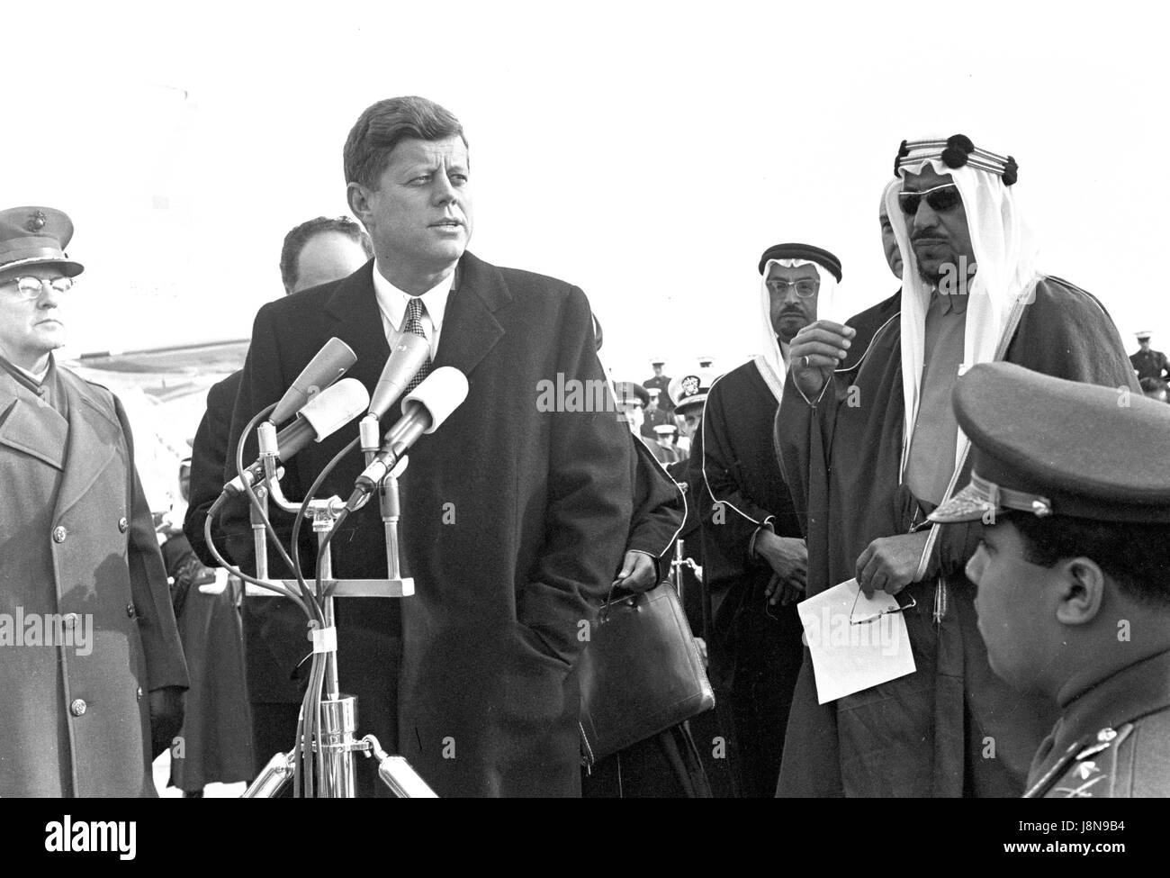 Founding King Abdulaziz Al-Saud and J. Kennedy 95