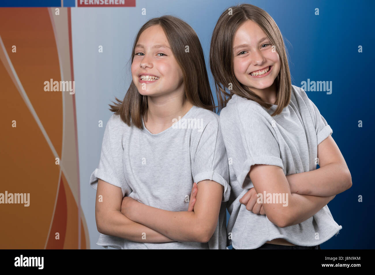 Leipzig, Germany  19th May, 2017  Child actresses from the