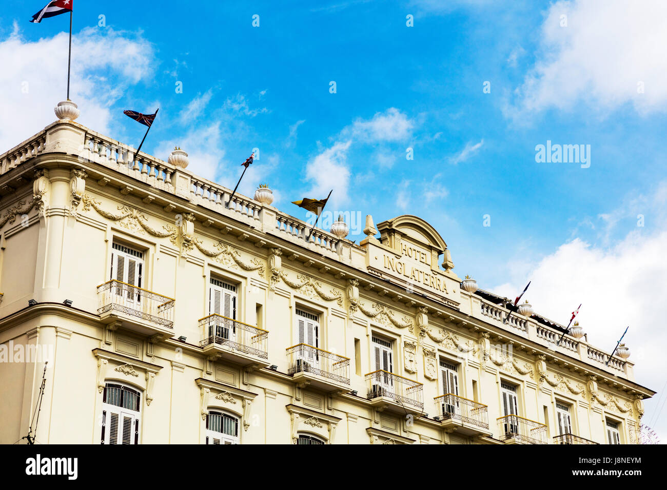 Inglaterra Hotel Havana Cuba Hotel Inglaterra, Paseo de Martí (aka Paseo del Prado), Old Havana (La Habana Vieja), - Stock Image