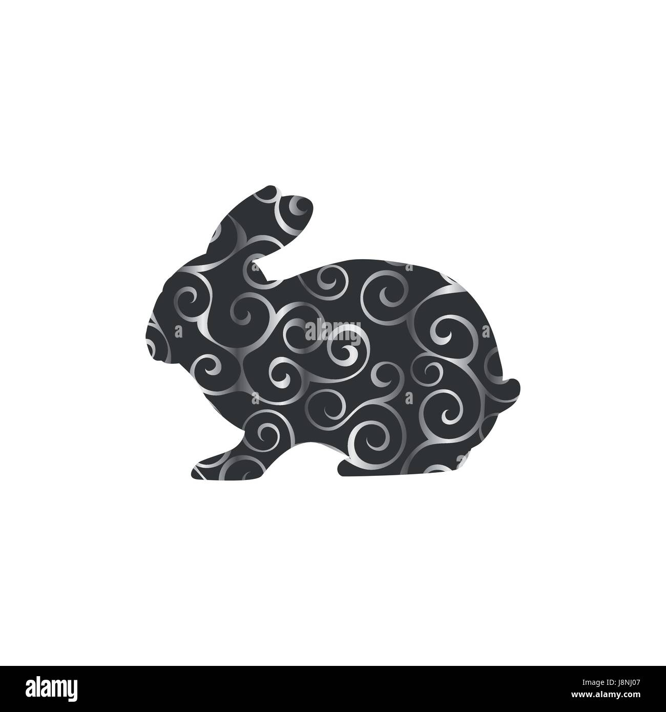 Grey Bunny Stock Vector Images - Alamy