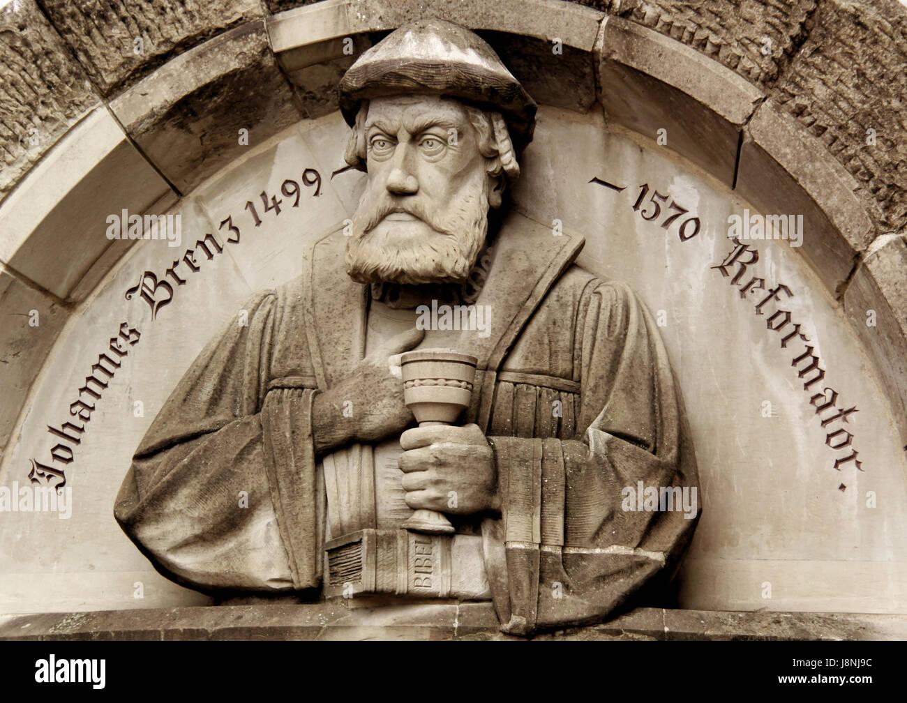 reformer johannes brenz - Stock Image