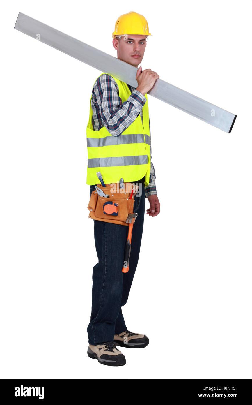beam, blank, european, caucasian, belt, builder, backdrop, background, Stock Photo