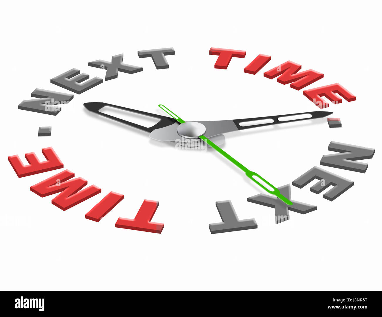 future, new, date, time, time indication, illustration, arrival, open, almost, - Stock Image