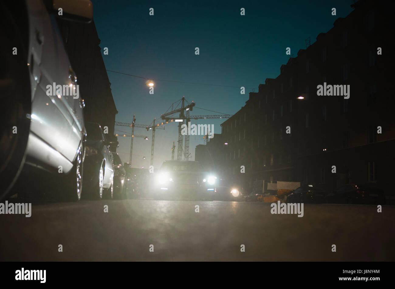 Traffic at night - Stock Image