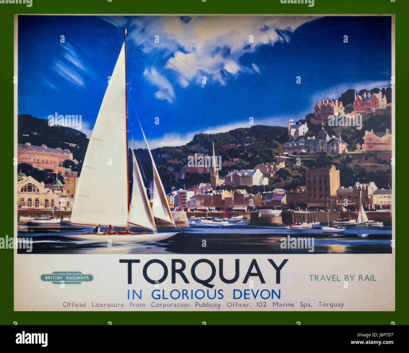 Commit torquay railway vintage poster very grateful