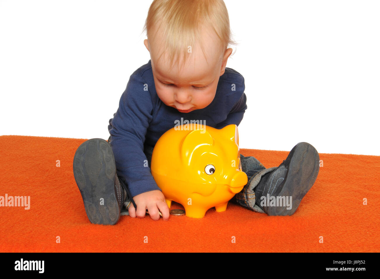 save, baby, piggybank, young, younger, child, provision, isolated, scrabble, Stock Photo