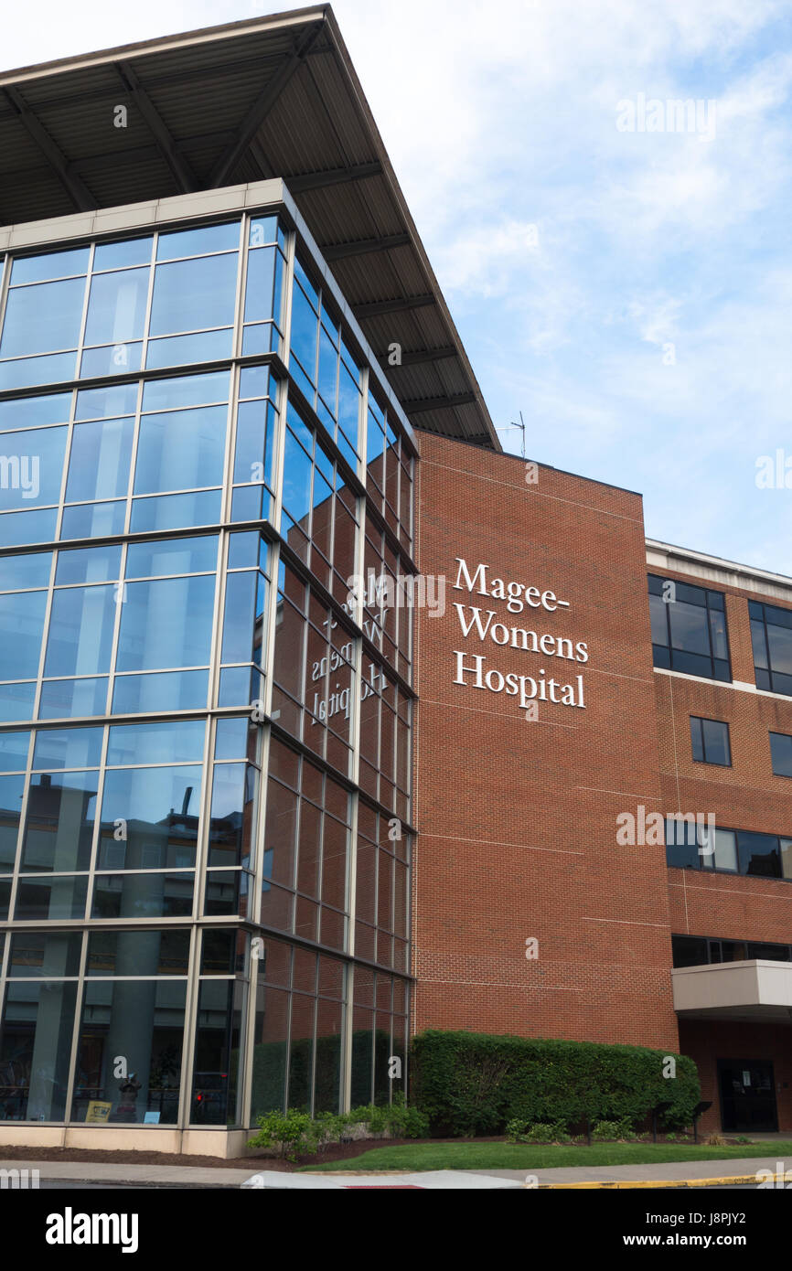 Magee Women's Hospital of UPMC, Pittsburgh, Pennsylvania, USA - Stock Image