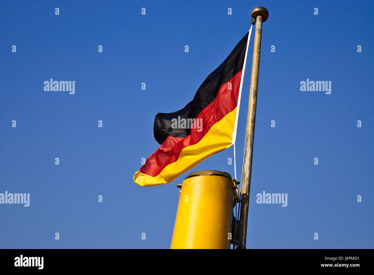 waving germany flag - Stock Image