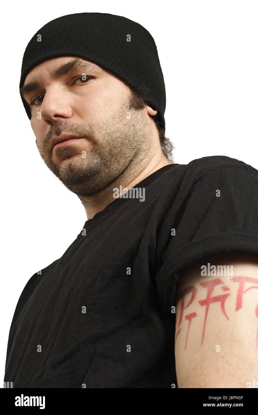 hooligan, attitude, criminal, hoodlum, security, safety, man, guy, men, man, Stock Photo
