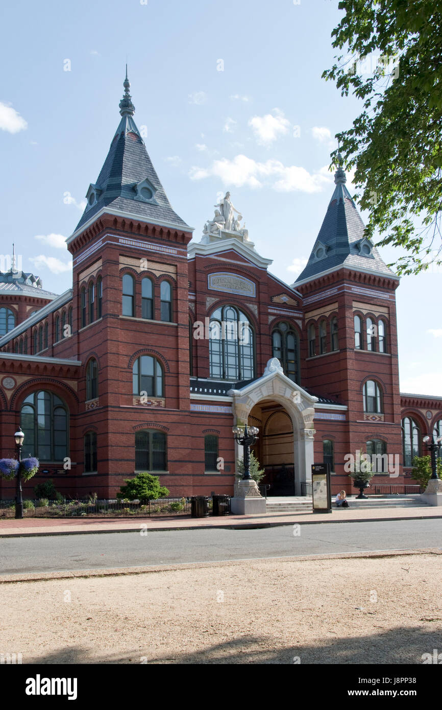 The Arts and Industries Building is the second oldest of the Smithsonian museums on the National Mall in Washington, - Stock Image