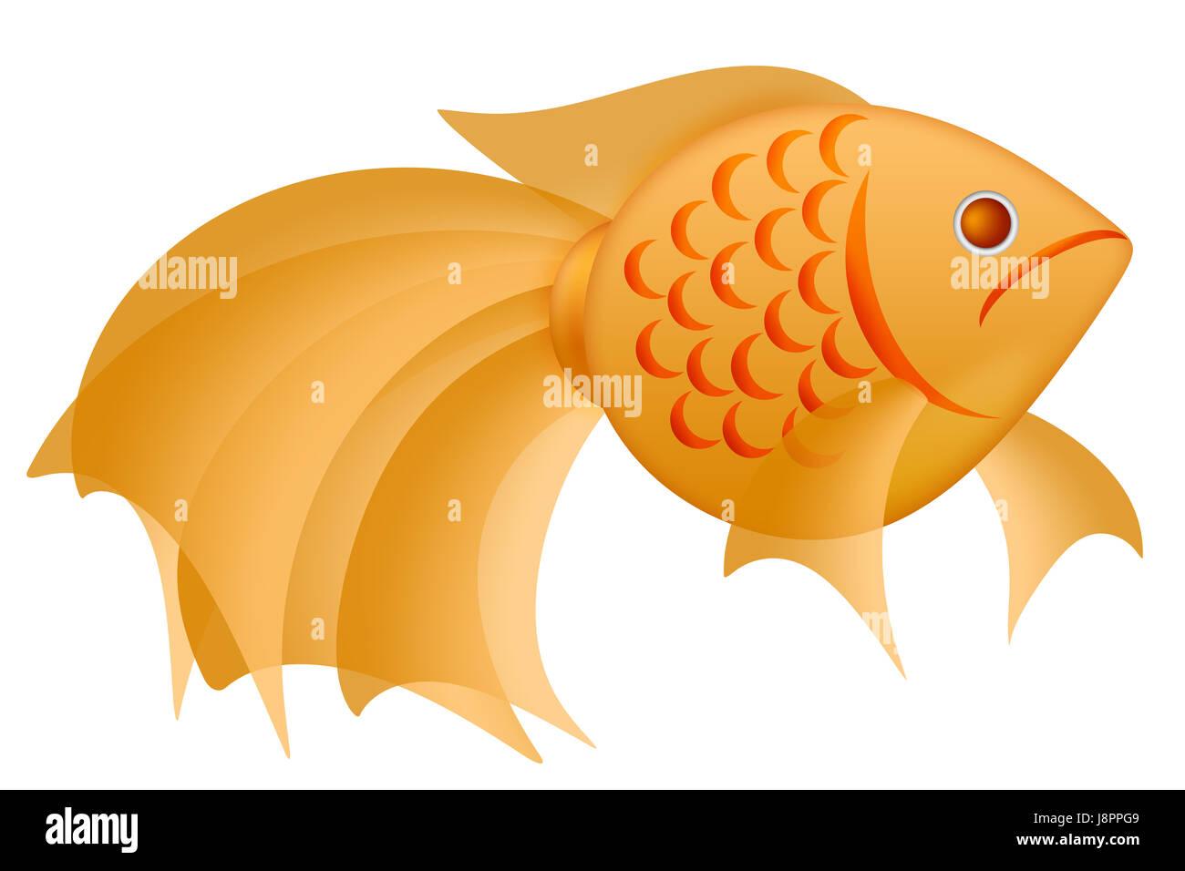 New Fish Chinese Asian Goldfish Years Year Pictogram Symbol