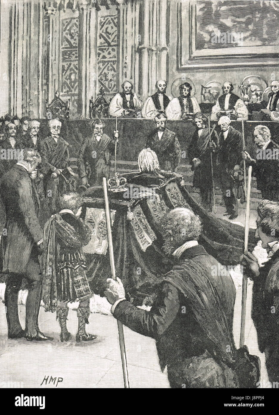 Funeral of Prince Albert  The Prince  Consort in 1861 - Stock Image