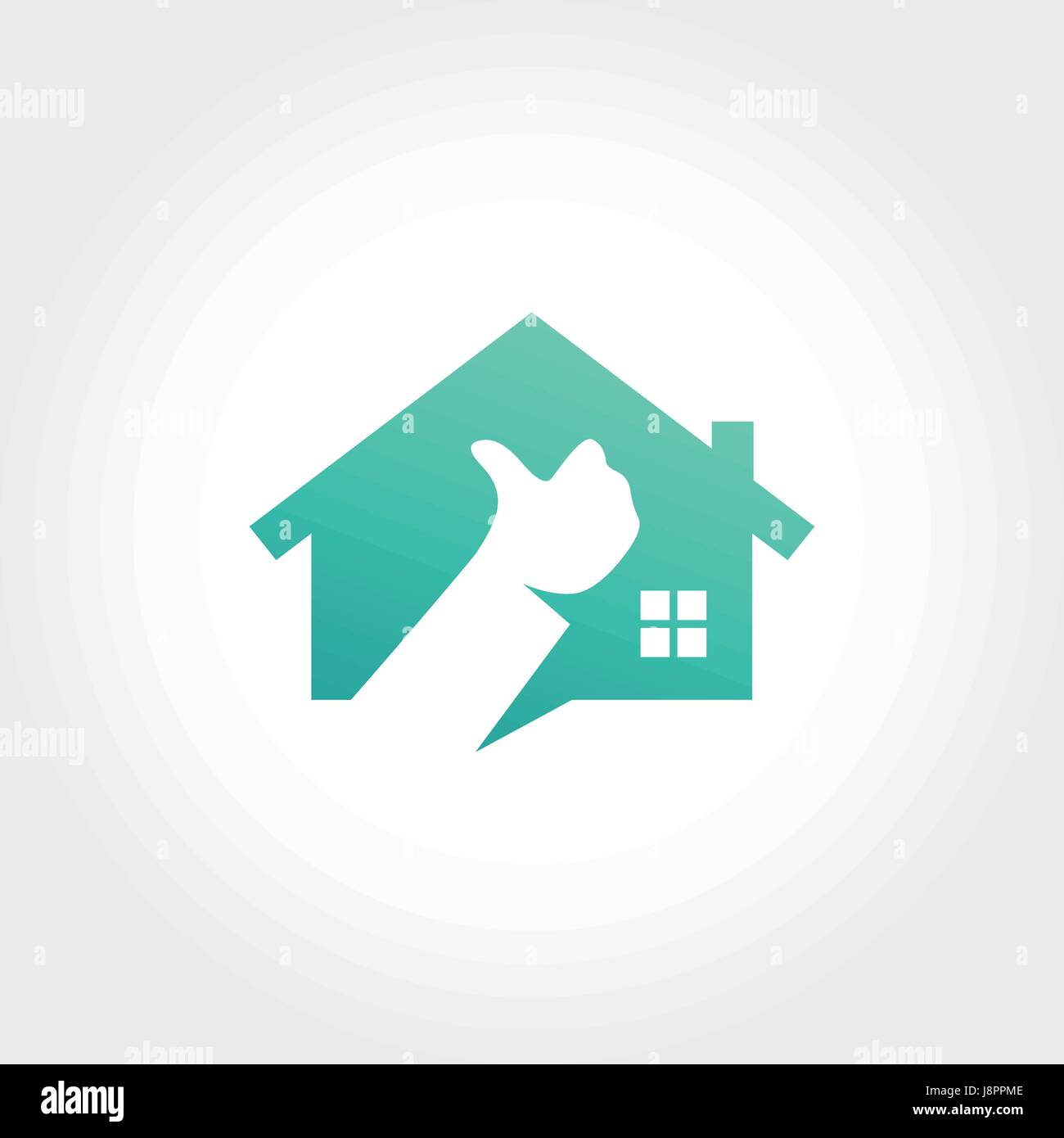 Best Real Estate Symbol Design, Thumb up concept - Stock Vector