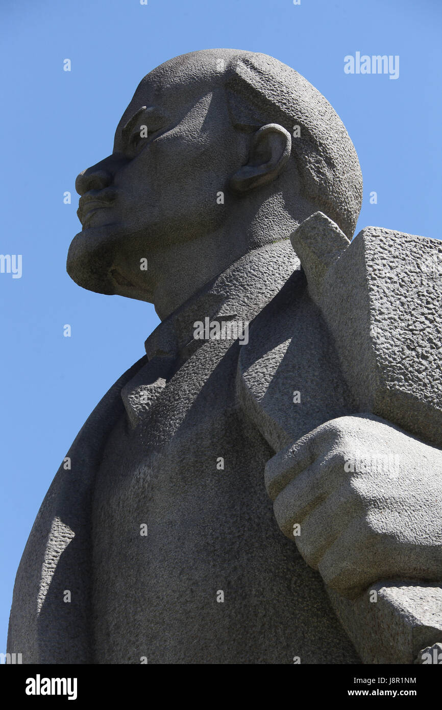 Lenin by Lev Kerbel at the Museum of Socialist Art in Sofia - Stock Image