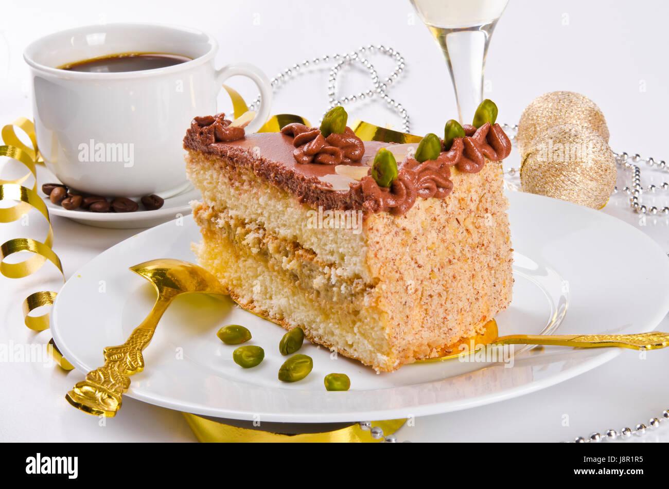 Food Aliment Sweet Fruit Cake Pie Cakes Champagne Dessert Birthday