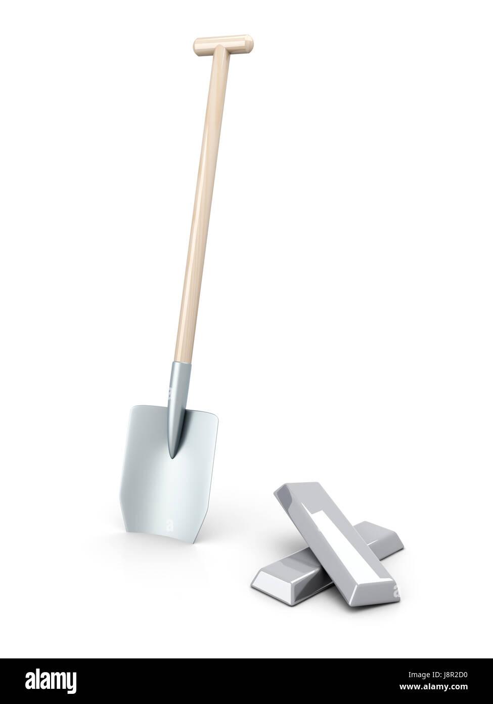 tool, isolated, garden, silver, stock exchange, stock-exchange, emporium, - Stock Image