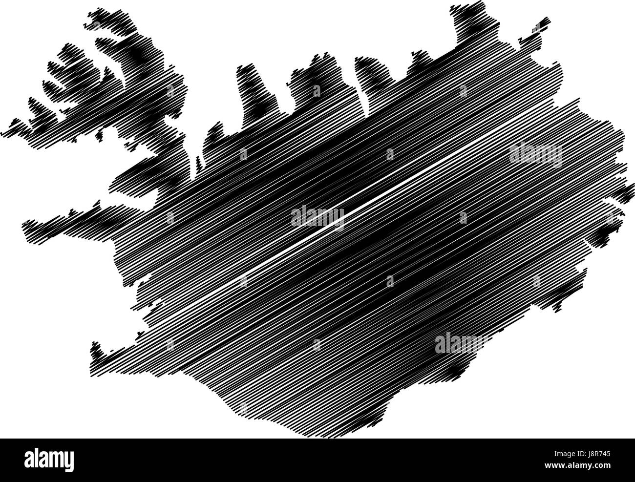 Iceland map vector illustration, scribble sketch Iceland Stock ...