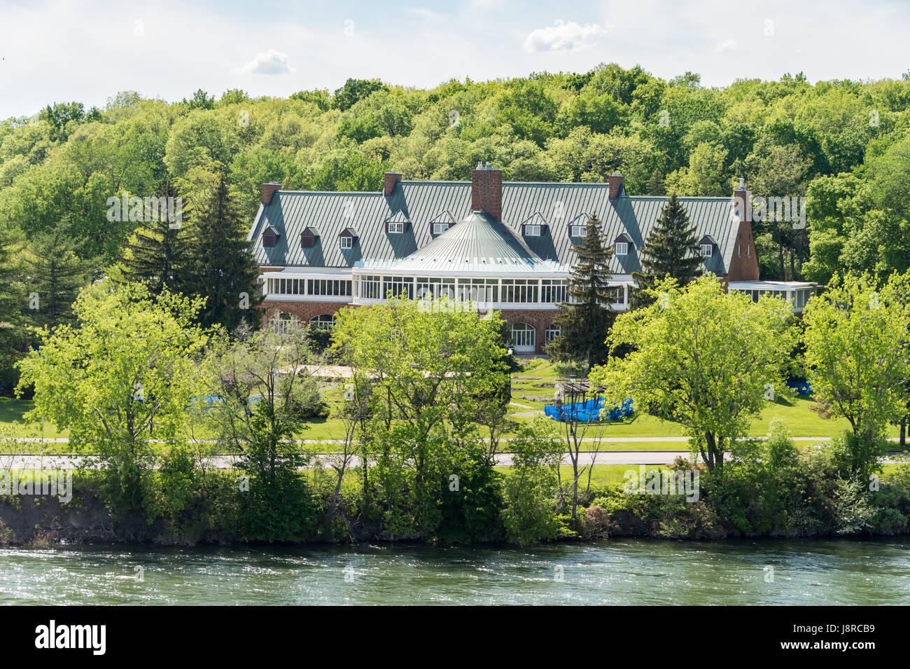 Hélène de Champlain Restaurant on Ste-Hélène Island in Montreal (after renovation) Stock Photo