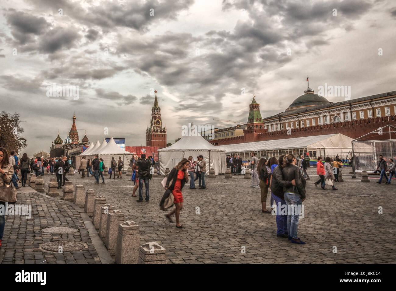 Russian Balagan at Red Square - Stock Image