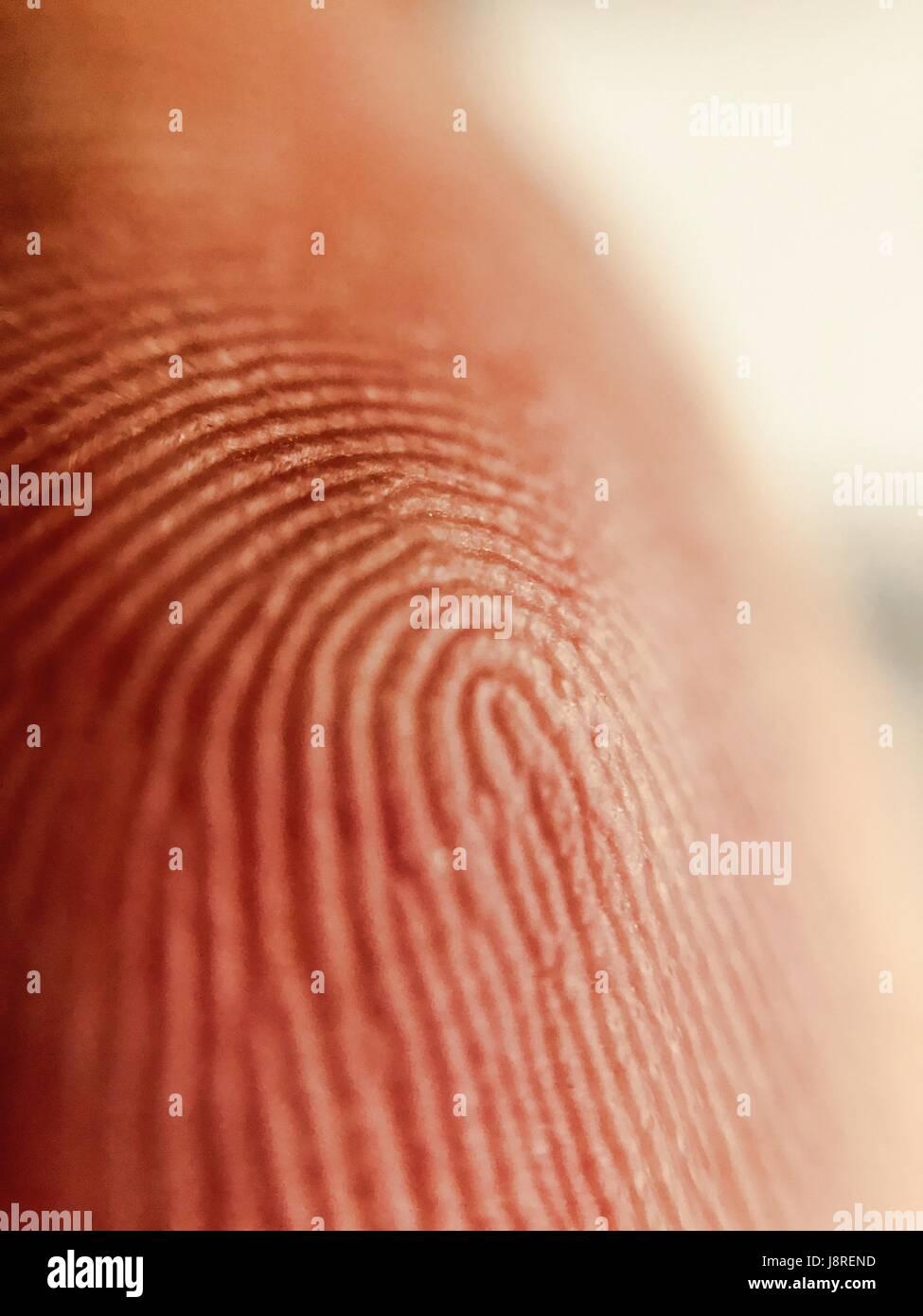 Human finger closeup - Stock Image