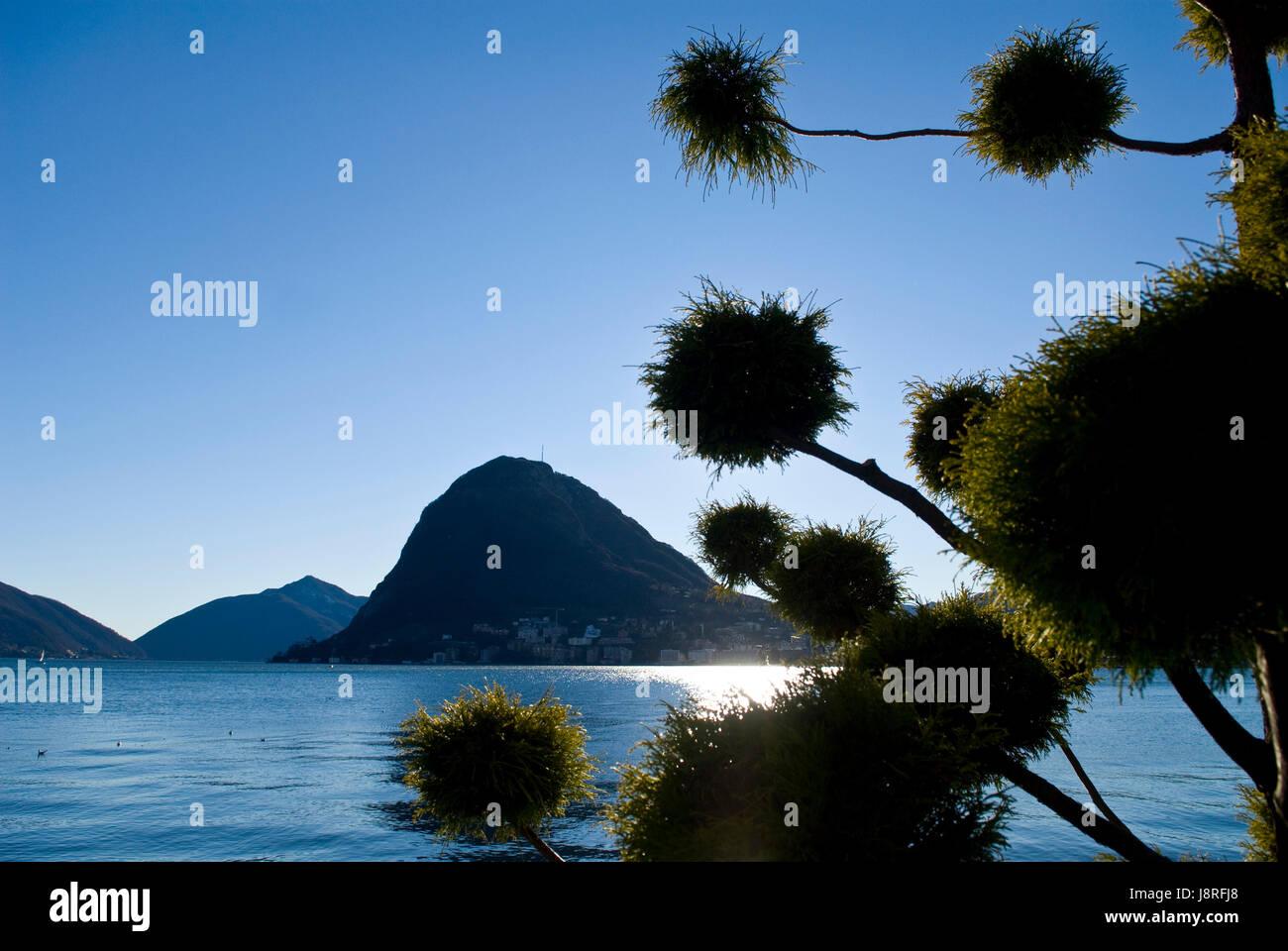 winter, switzerland, tessin, salt water, sea, ocean, water, winter, Stock Photo