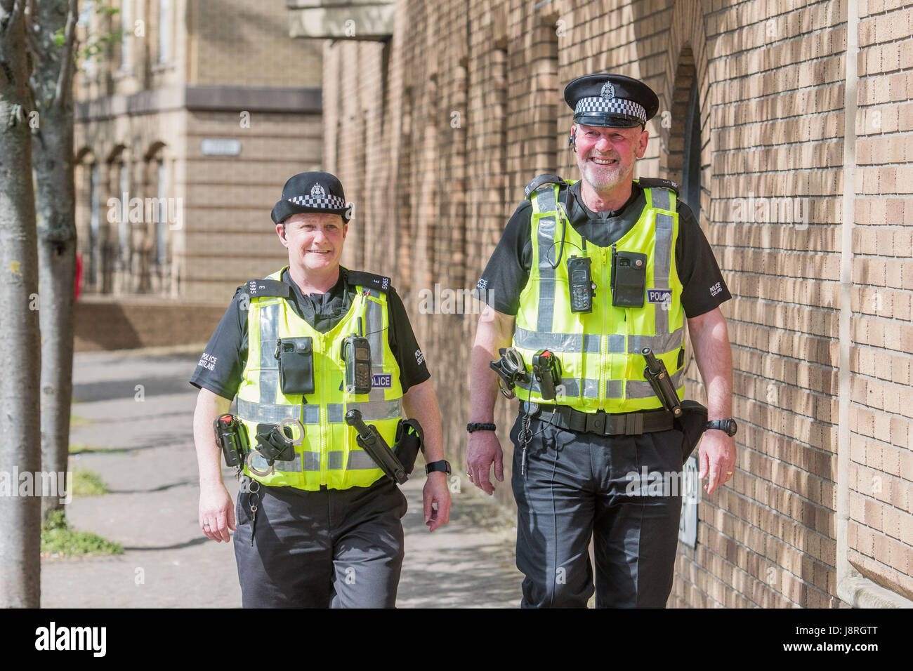 WWW.IANGEORGESONPHOTOGRAPHY.CO.UK Picture: CPT Seona Fleming and Derek Barbour.  A new code for practice for Police - Stock Image