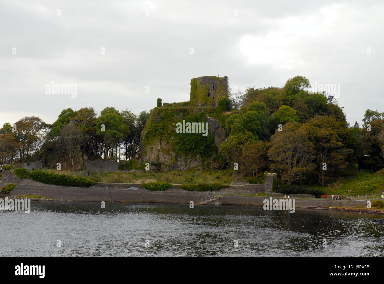 waters, ruin, scotland, building, buildings, tower, historical, tree, trees, Stock Photo