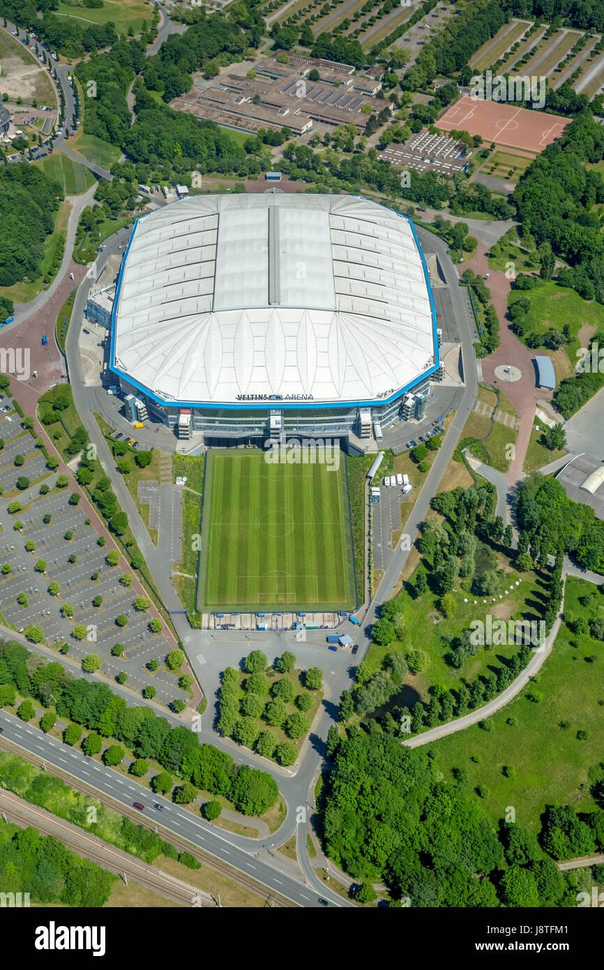 VELTINS-Arena, Schalke-Stadion, erste Bundeliga, Bundesligastadion, premier league, Schalker Feld,  Gelsenkirchen, - Stock Image