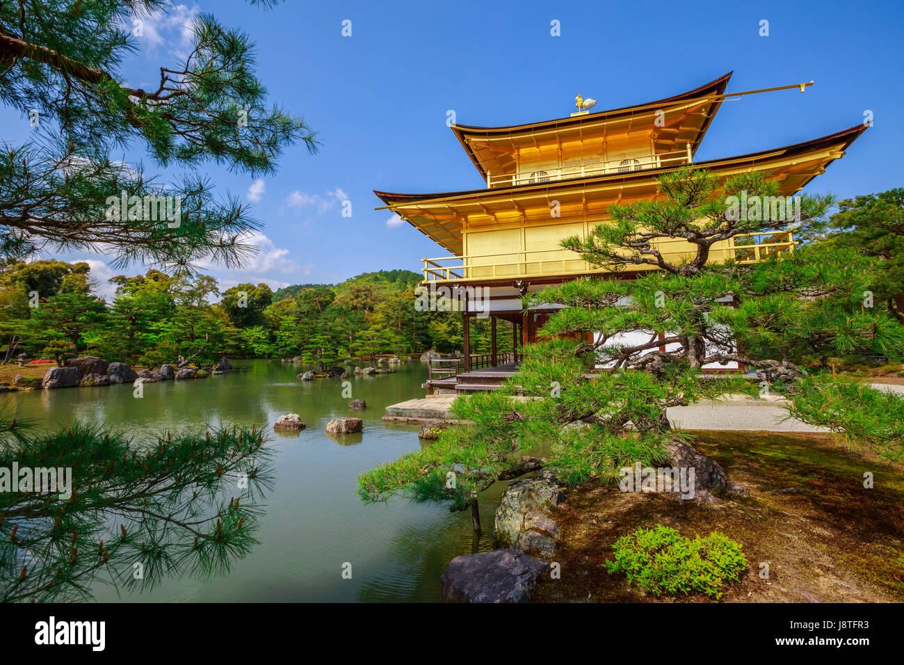 Rokuon-ji Golden Pavilion - Stock Image