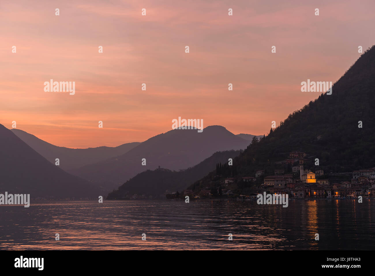 Lake in Iseo, Italy - Stock Image