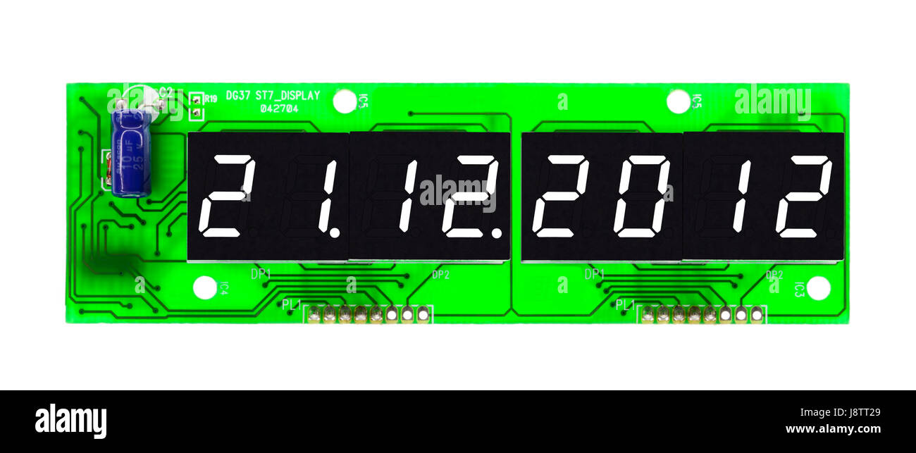 countdown - prophecy of armageddon - Stock Image