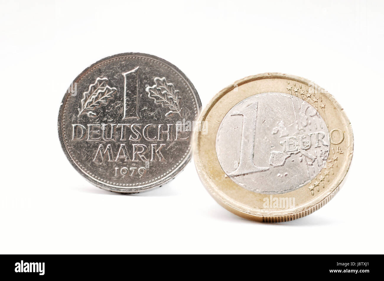 dm and euro - Stock Image