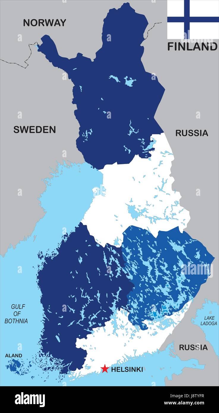 finland map atlas map of the world political flag scandinavia finland