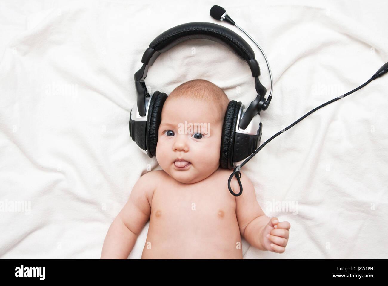Music Baby Earphones Headphones Adorable Listening Newborn Child Newborn