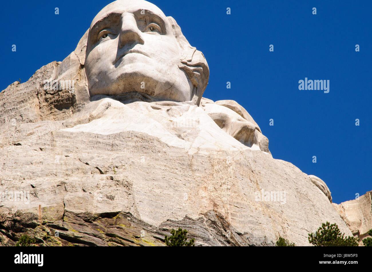 Mount Rushmore National Memorial, Black Hills, Keystone, South Dakota, USA - Stock Image