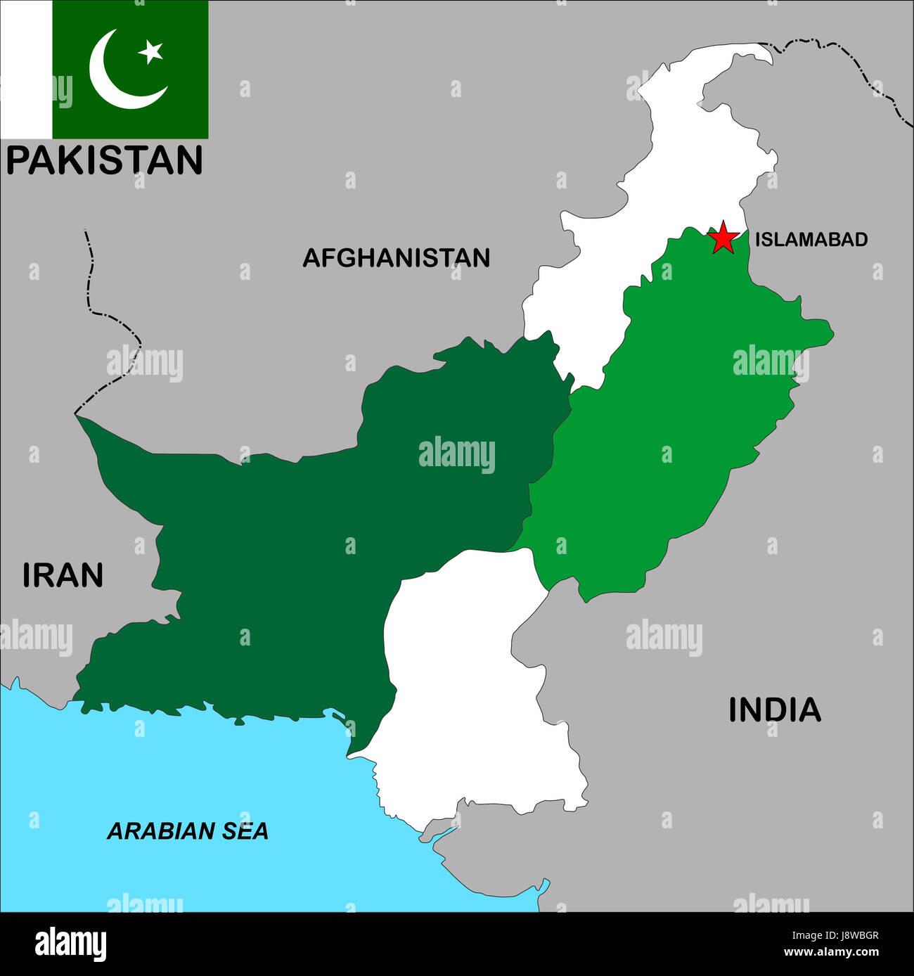 Cartina India Pakistan.Map Pakistan High Resolution Stock Photography And Images Alamy