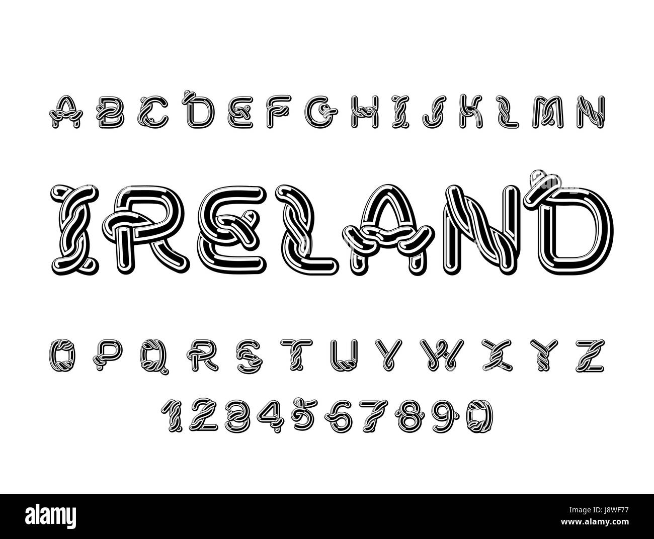 ireland font national celtic alphabet traditional irish ornament