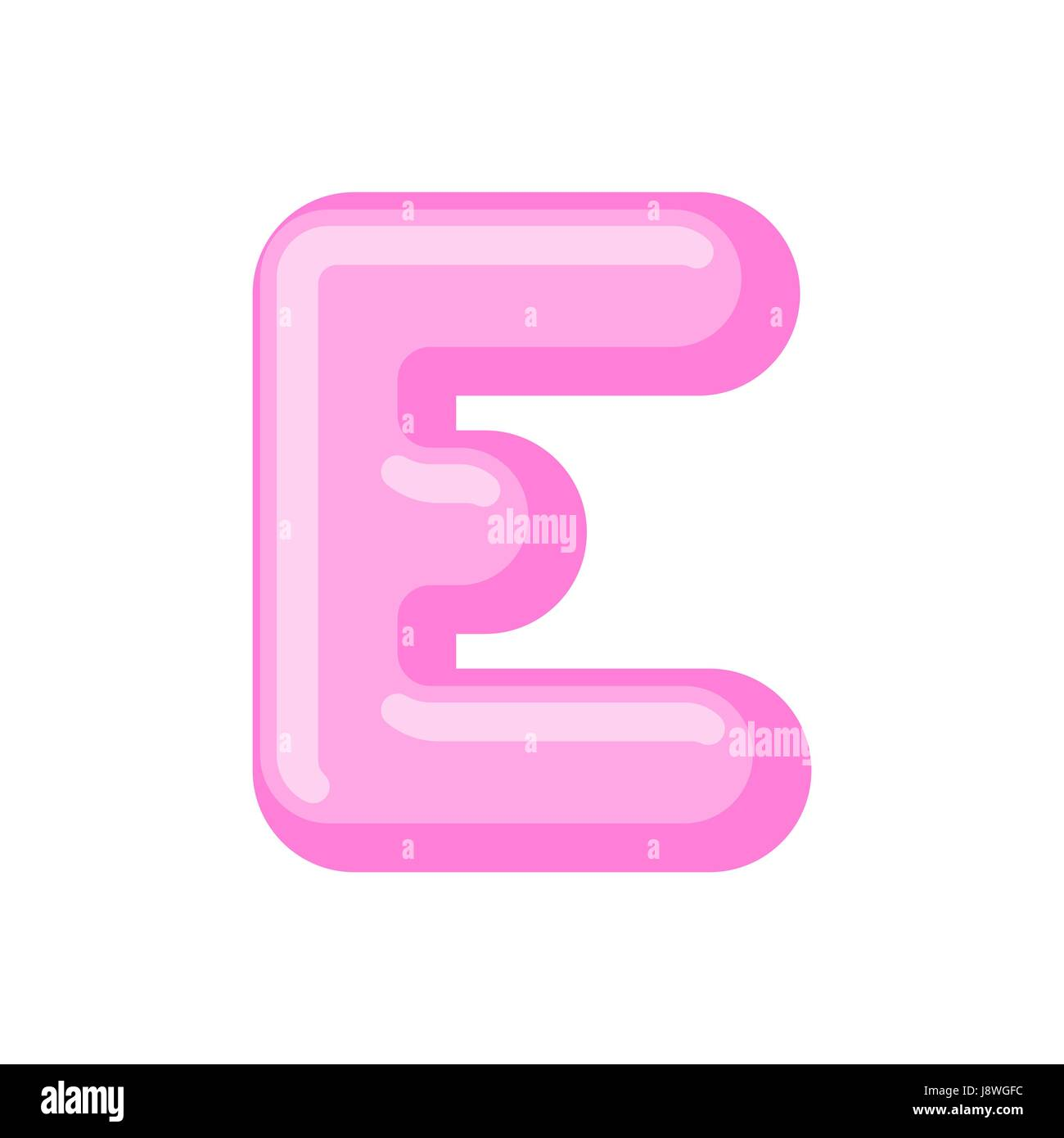 Letter E Candy Font Caramel Alphabet Lollipop Lettering Sweet ABC Sign