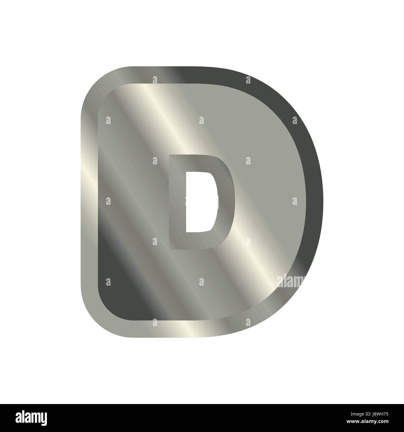 Letter D Steel Font Metal Alphabet Sign Iron Abc Symbol Chromium