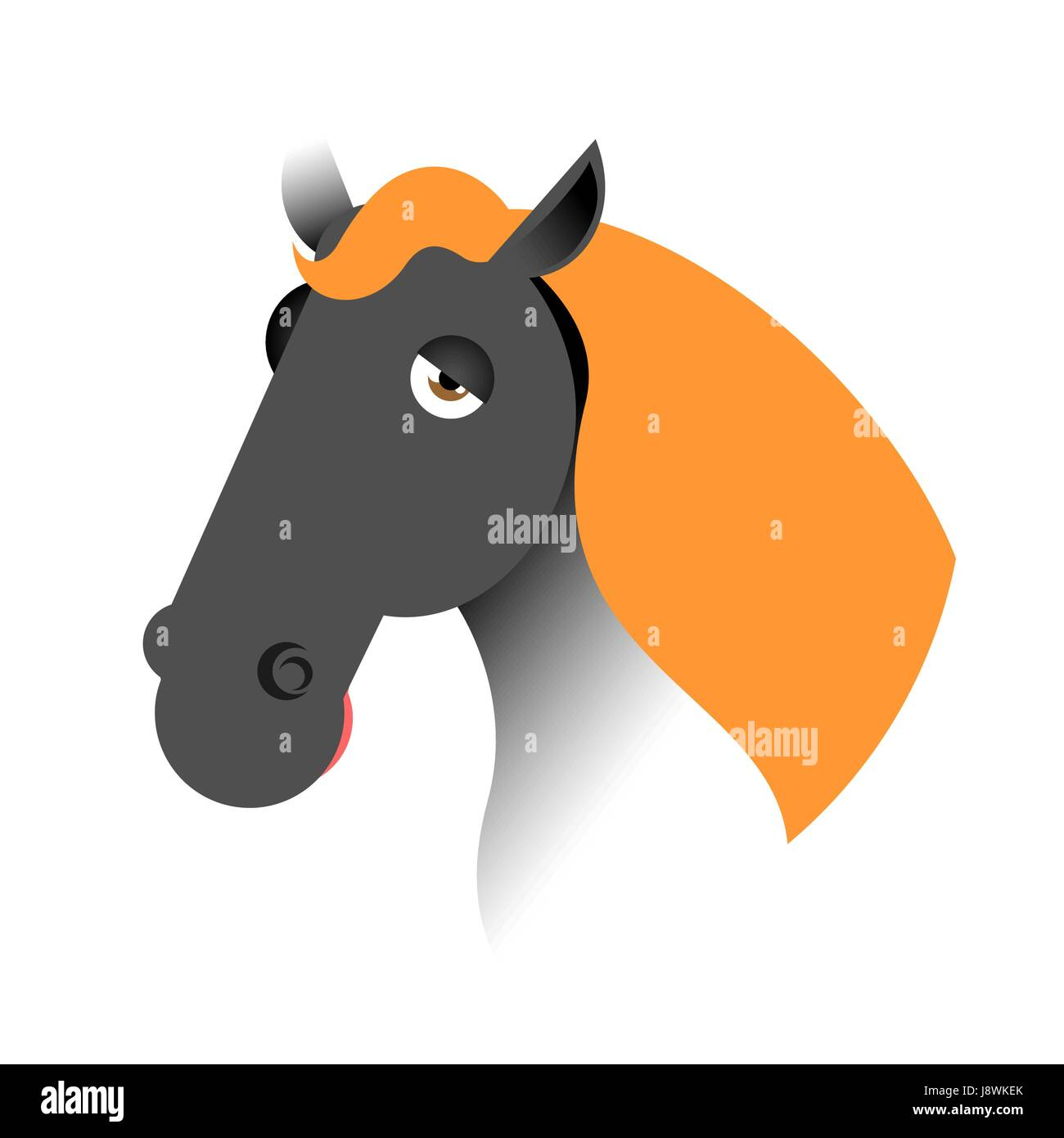 Horse Head Animal Cutout Stock Photos & Horse Head Animal