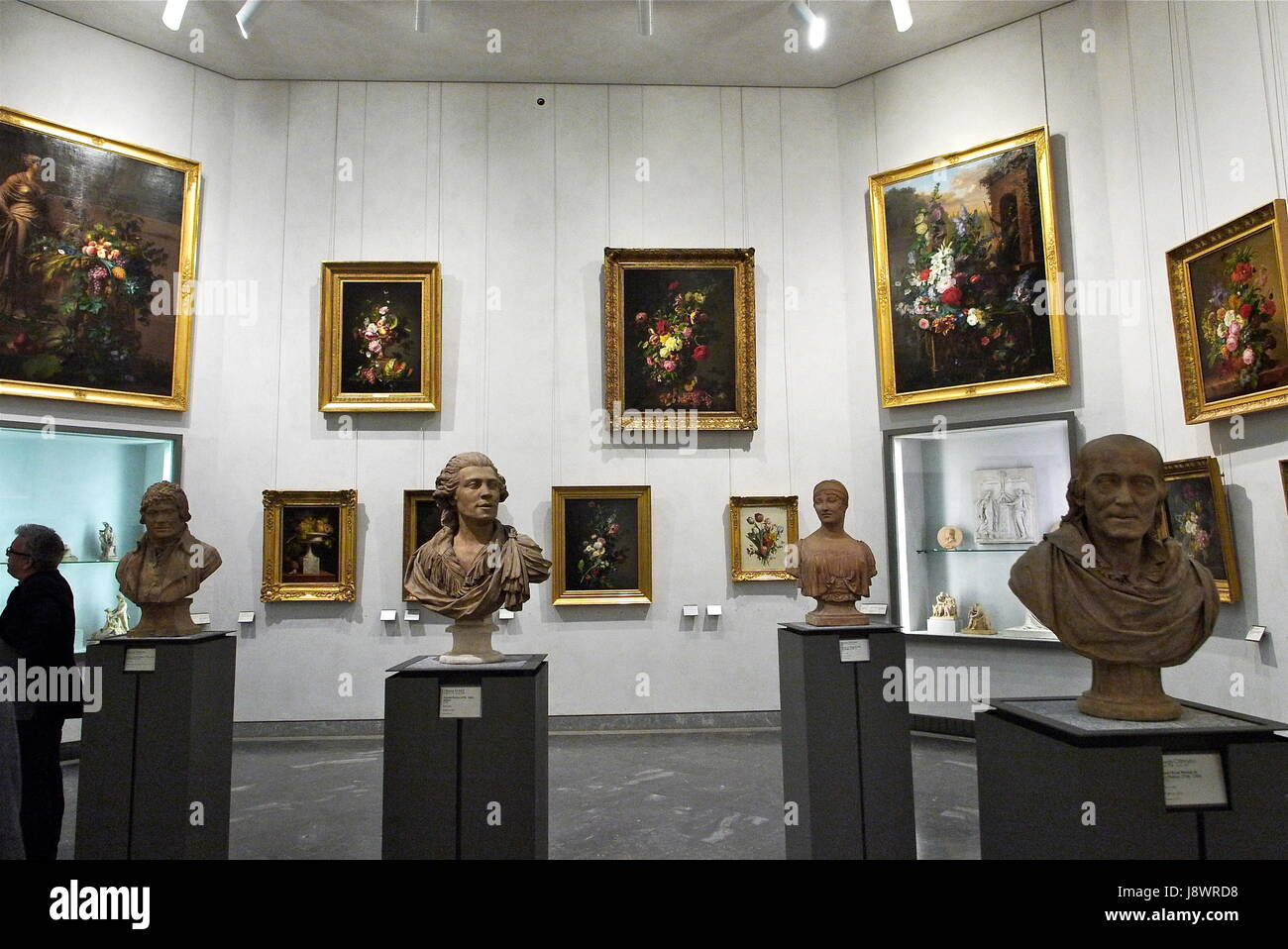 A tour in the collections of Saint-Pierre Museum of Fine Arts, in Lyon Stock Photo